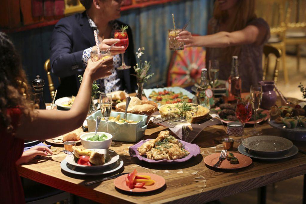 Middag i Junibackens festlokal