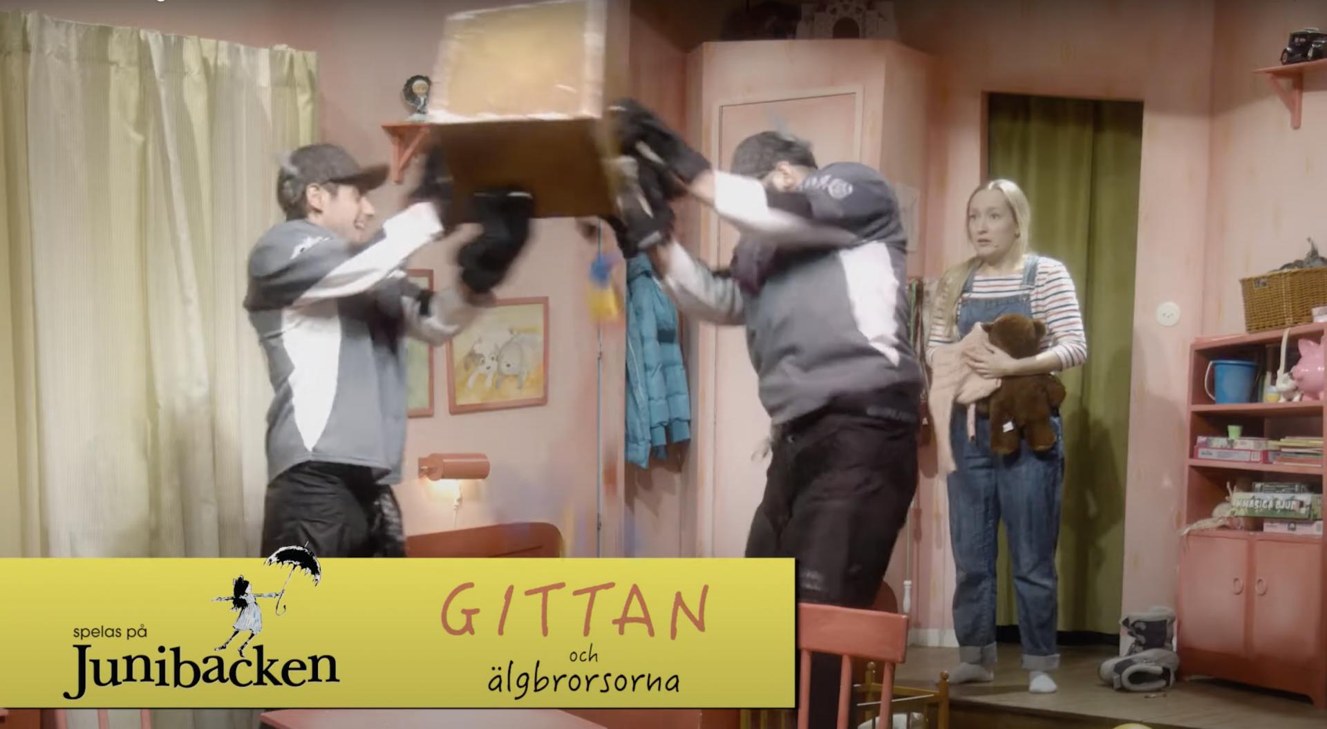 Stillbild från trailer Gittan och älgbrorsorna